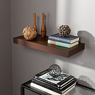 "Parma Floating Shelf 24"" - Chocolate, Chocolate, rollover"