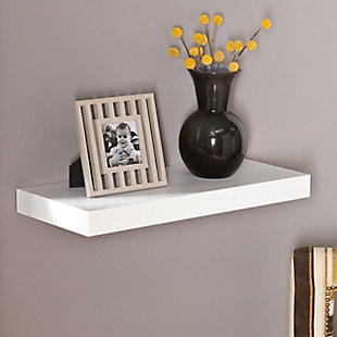 "Parma Floating Shelf 24"" - White, , rollover"