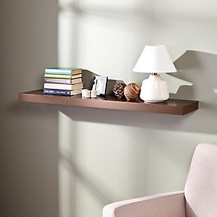 """Parma Floating Shelf 48"""" - Chocolate, , rollover"""
