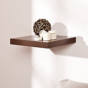 """Mollie Floating Shelf 10"""" - Chocolate, , rollover"""