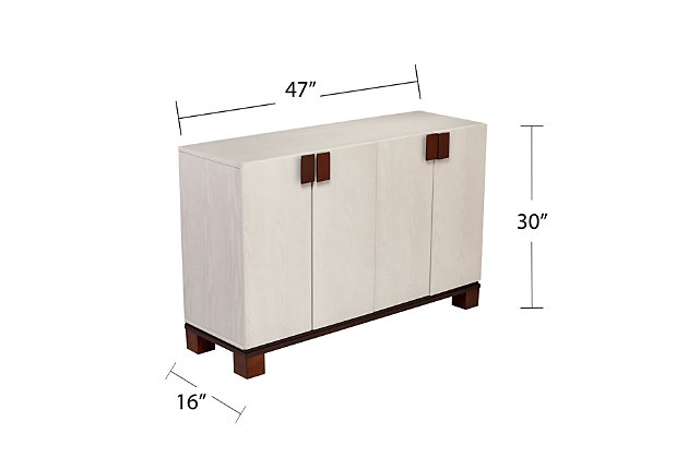 Pario 4-Door Storage Cabinet, , large