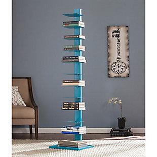 Orielle Spine Tower Shelf - Bright Cyan, , rollover