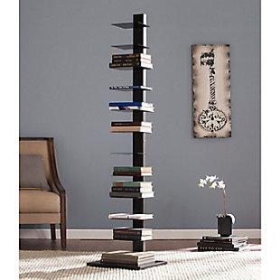 Orielle Spine Tower Shelf - Black, , rollover