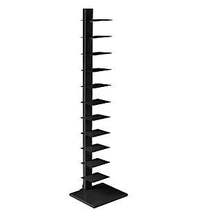 Orielle Spine Tower Shelf - Black, , large