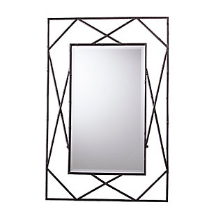 Belews Geometric Wall Mirror - Black, Black, large