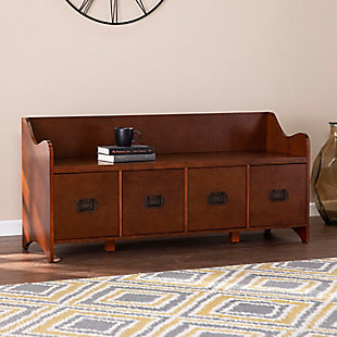 Rahk 4-Drawer Storage Bench - Brown, , rollover