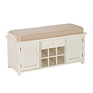 Cortland Shoe Storage Bench - Antique White, , large