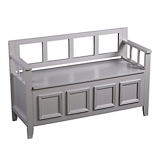 Olla Storage Bench - Modern Farmhouse Style -  Gray, , large