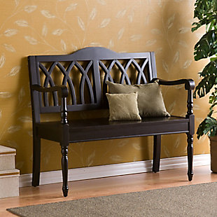 Hanzen Bench – Antique Black, , rollover