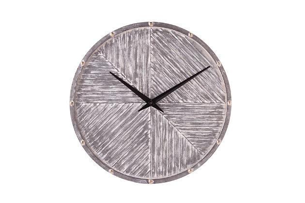 Croyne Round Hanging Wall Clock, , large