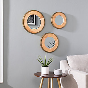 Paslov Decorative 3-Piece Mirror Set, , rollover