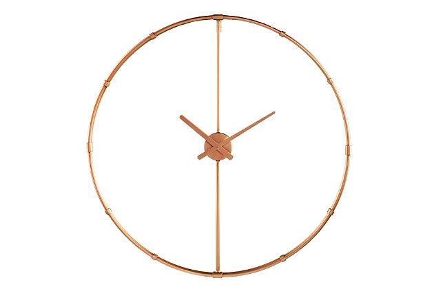 Lenora Large Metal Clock, , large