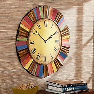 Lanie Multicolor Wall Clock, , rollover