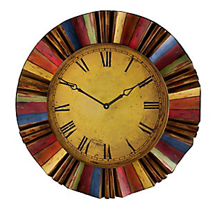 Lanie Multicolor Wall Clock, , large