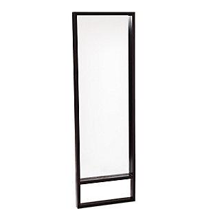 Davey Leaning Mirror - Ebony Stain, , large