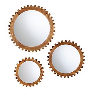Mayson Round Farmhouse Mirror Set, , large
