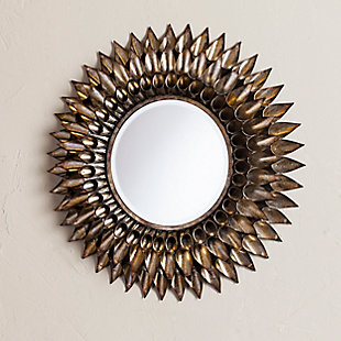 Behons Round Decorative Wall Mirror, , rollover