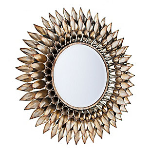 Behons Round Decorative Wall Mirror, , large