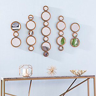 Landry 5-Piece Mirrored Wall Decor Set, , rollover