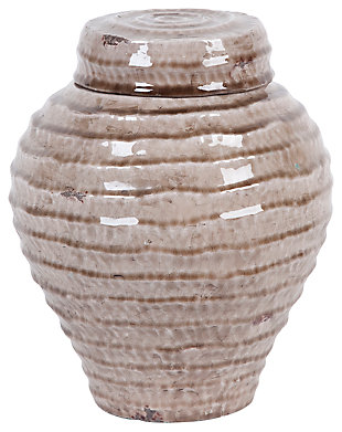 Home Accents Jar, Ivory, large