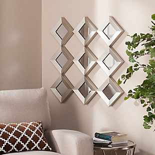 Twila Mirrored Squares Wall Sculpture, , rollover