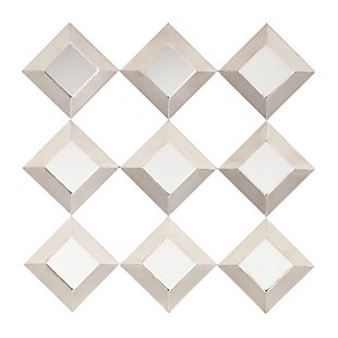 Twila Mirrored Squares Wall Sculpture, , large