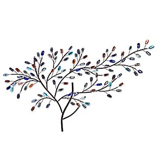 Marie Metal/Glass Tree Wall Sculpture, , large