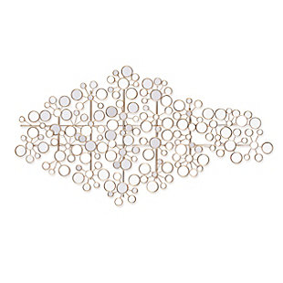 Recka Mirrored Metal Wall Sculpture, , large