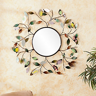 Fasson Decorative Metallic Leaf Wall Mirror, , rollover