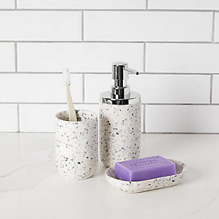 Umbra Junip Bath Bundle Terrazzo, White, rollover