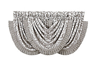 J.Queen New York Luxembourg - Silver Window Waterfall Valance, , rollover