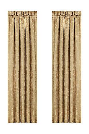 """J.Queen New York Napoleon - Gold 84"""" Window Panel Pair, , rollover"""