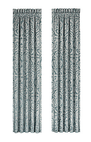 """J.Queen New York Sicily - Teal 84"""" Window Panel Pair, Teal, rollover"""