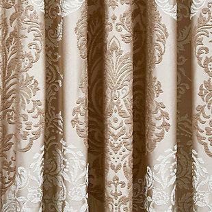 "J.Queen New York La Scala 84"" Window Panel Pair, Gold, large"