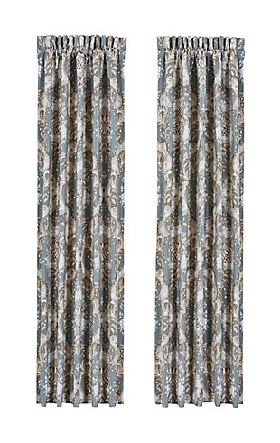 """J.Queen New York Crystal Palace - French Blue 84"""" Window Panel Pair, , rollover"""