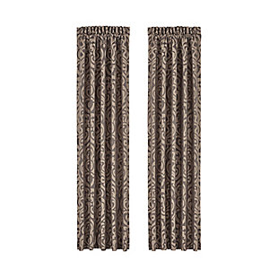 J. Queen New York Astoria Curtain Pair, Valance, Kenney Rod & Chicology Roman Shade Bundle