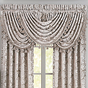 J.Queen New York Bel Air - Sand Window Waterfall Valance, Sand, large
