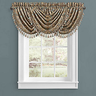 J.Queen New York Victoria - Turquoise Window Waterfall Valance, , large