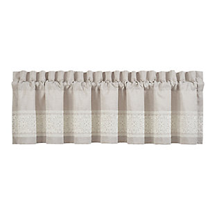 J.Queen New York Lauralynn Window Straight Valance, , rollover