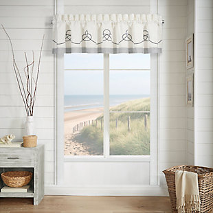 J.Queen New York Shore Window Straight Valance, , large