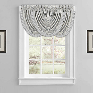 J.Queen Five Queens Court Faith Window Waterfall Valance, , large