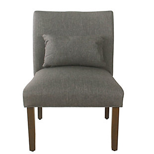 HomePop Parker Accent Chair and Pillow - Gray Woven, , rollover