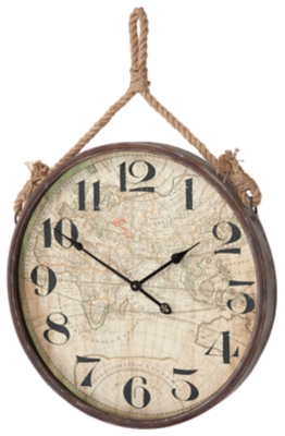 Home Accents Wall Clock by Ashley HomeStore, Natural