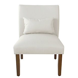 HomePop Parker Accent Chair and Pillow - Cream, , rollover