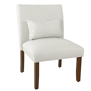 HomePop Parker Accent Chair and Pillow - Cream, , large