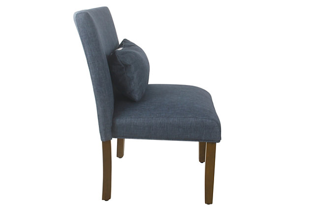 HomePop Parker Accent Chair and Pillow - Navy Blue, Blue, large