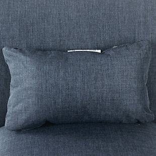 HomePop Parker Accent Chair and Pillow - Navy Blue, , large