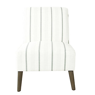 HomePop Modern Armless Accent Chair - Dove Gray Stripe, , rollover