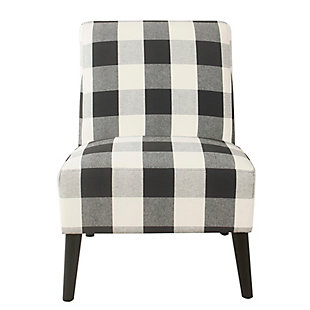 HomePop Modern Armless Accent Chair - Black Plaid, , rollover