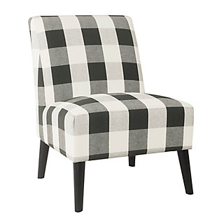 HomePop Modern Armless Accent Chair - Black Plaid, , large